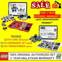 LEGO Mindstorms EV3 Core Set, Expansion Set & Charger 45544 45560 45517 (Malaysia Original Set) Robotik NRC FLL Sasbadi (2 Years Warranty)