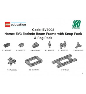 LEGO MINDSTORMS EV3 Technic Beam Frame with Snap Pack & Peg Pack EV3003